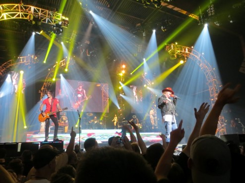 Guns N' Roses live in Las Vegas