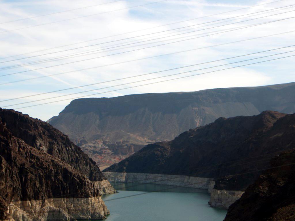 Der Hoover Staumdamm speichert derzeit nur 50% seines eigentlichen Fassungsvermögens