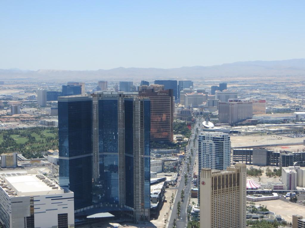 Der Las Vegas Strip vom Stratosphere Tower aus fotografiert