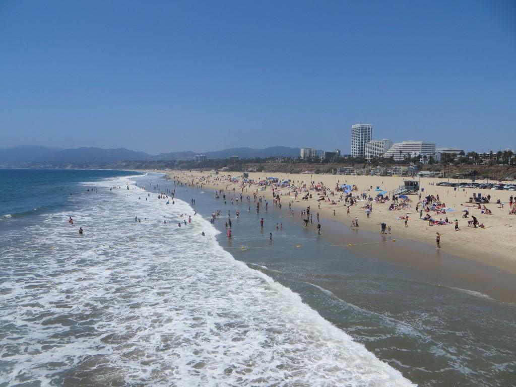 Am Strand von Santa Monica wurden große Teile von Baywatch gedreht